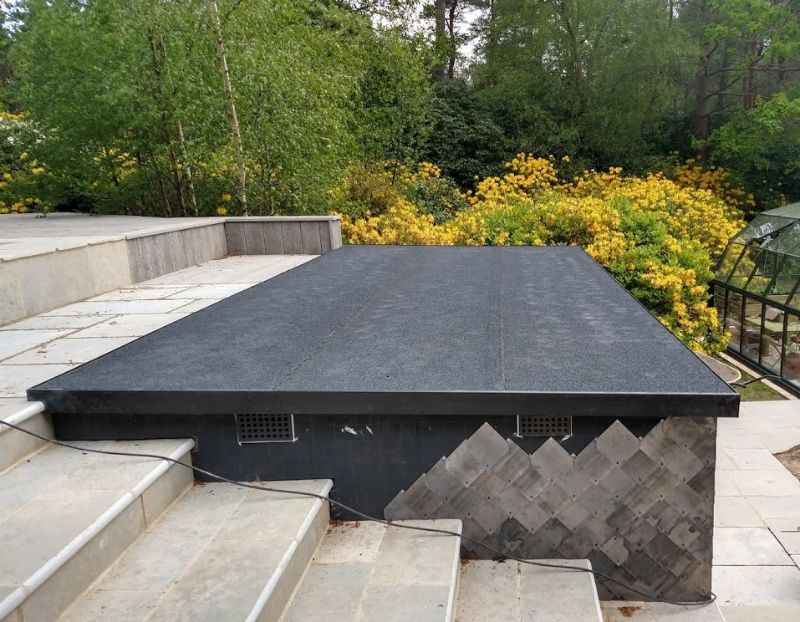 Flat Roof with GRP Edging