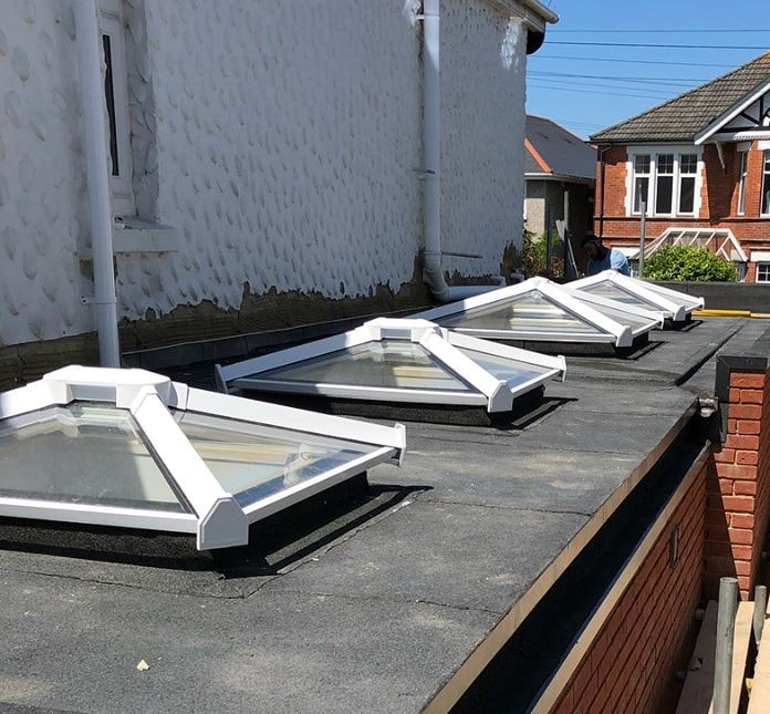 Flat roof & roof lights
