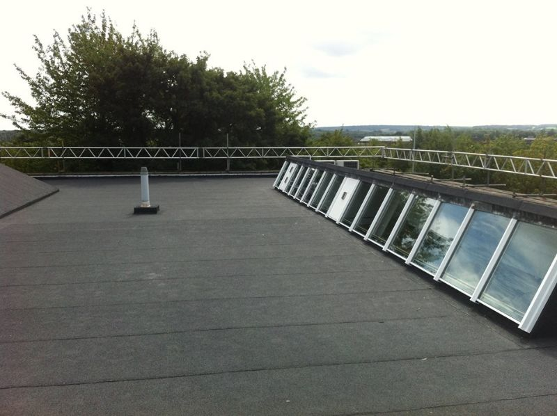 AKT Roofing Flat roof with rooflights