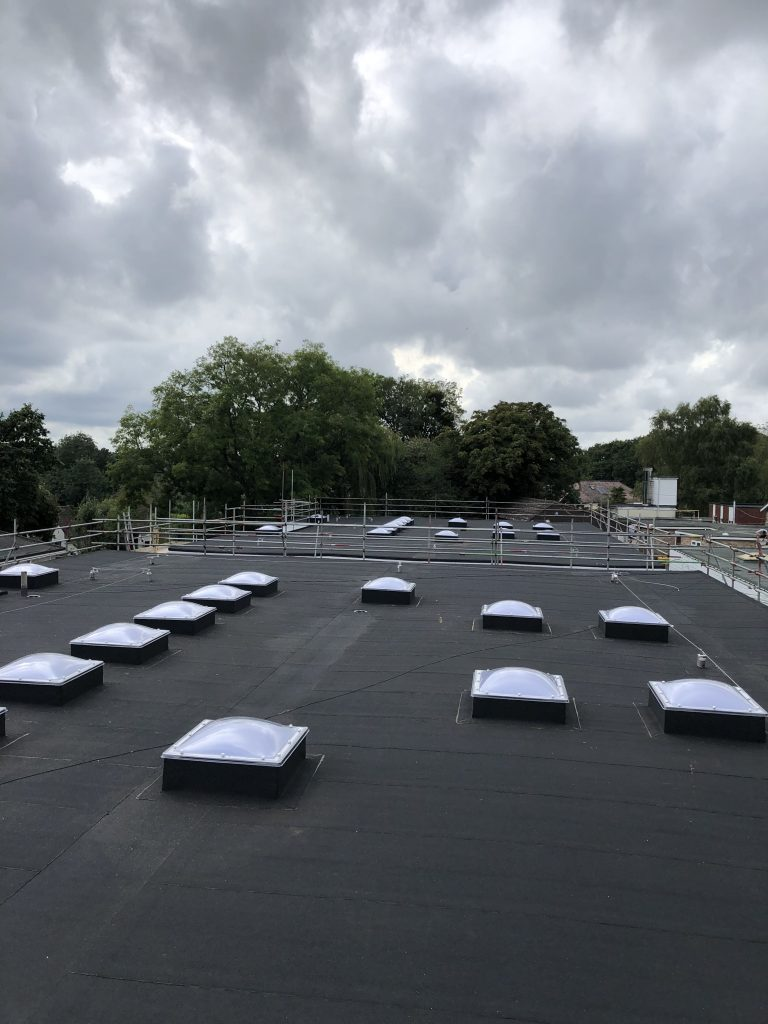 AKT Roofing Large Flat Roof - Rooflights