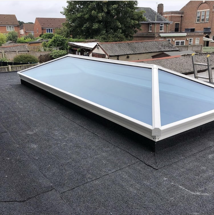 AKT Roofing Roof lantern with flat roof system
