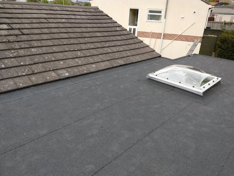 AKT Roofing rooflight with flat felt roof